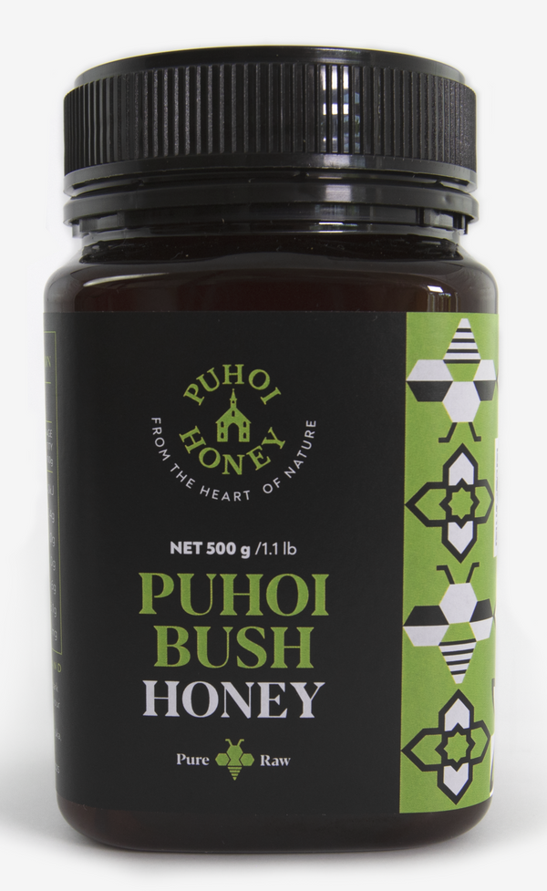 Puhoi Honey: Puhoi Bush Honey - Pure & Raw (500g)