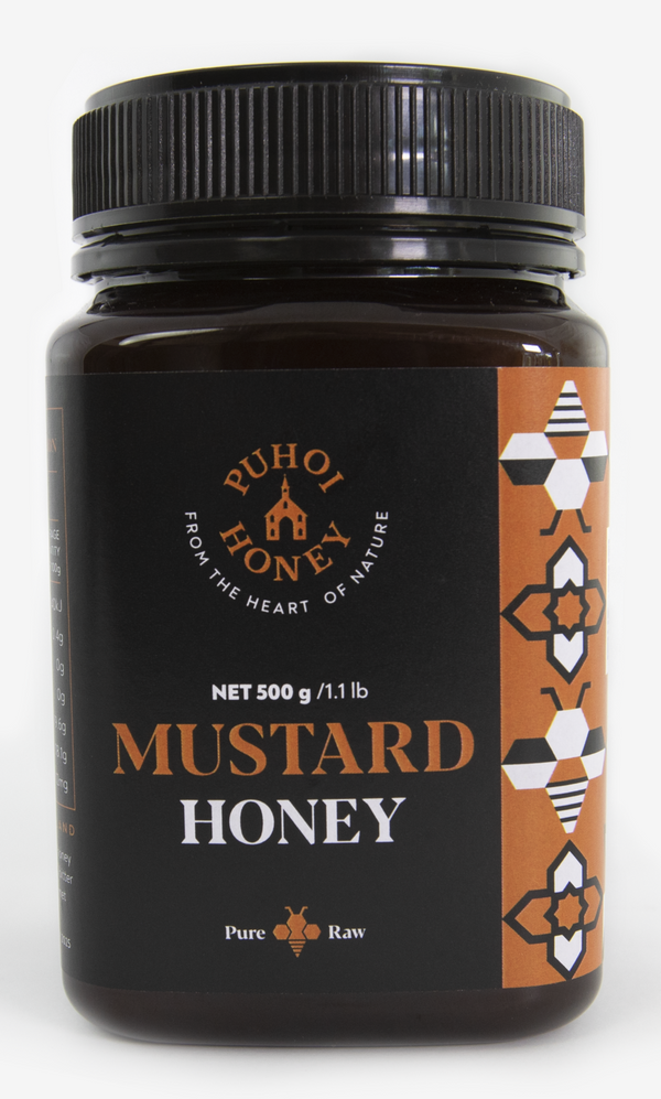 Puhoi Honey: Mustard Honey - Pure & Raw (500g)