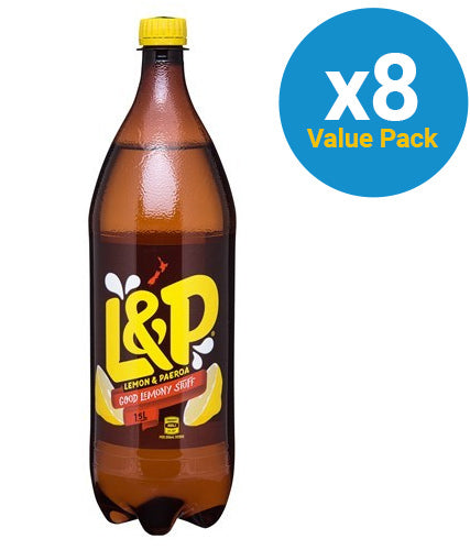 Lemon & Paeroa Soft Drink 1.5l (8 Pack)