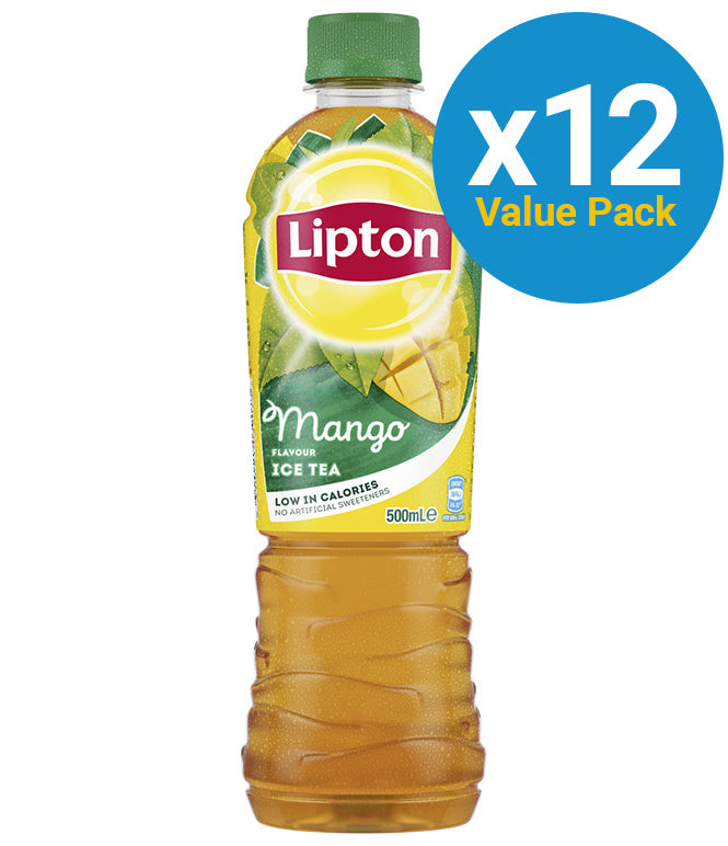 Lipton Ice Tea Mango 500ml (12 Pack)