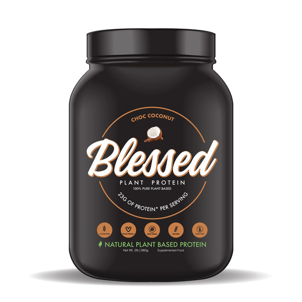 Blessed Plant Based Protein Powder - Choc Coconut (30 Serves - 2LB)