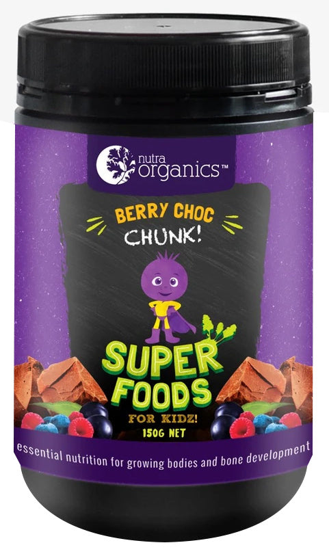 Nutra Organics Superfoods for Kids - Berry Choc Chunk (150g)