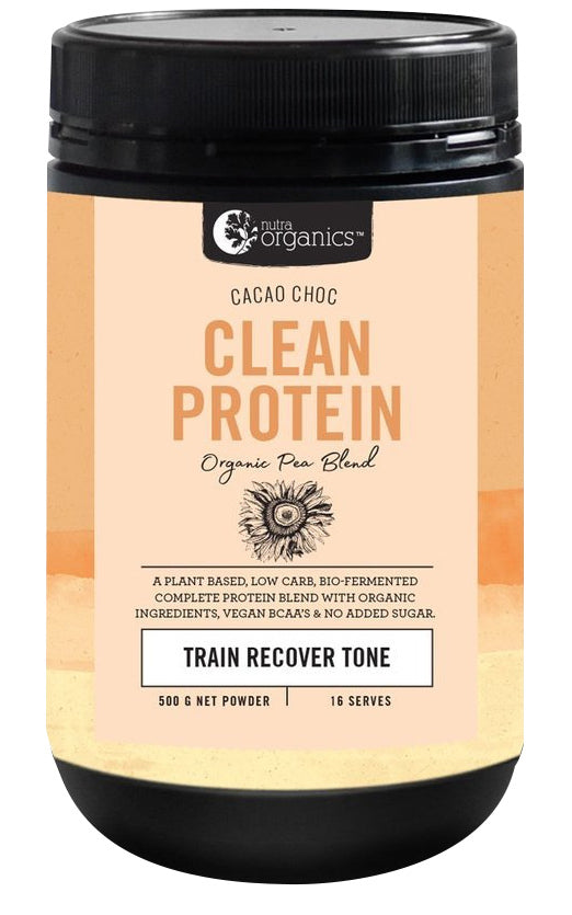 Nutra Organics Clean Protein Powder - Cacao Chocolate (500g)