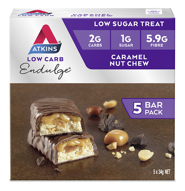 Atkins Endulge Bars - Caramel Nut Chew (Box of 5)
