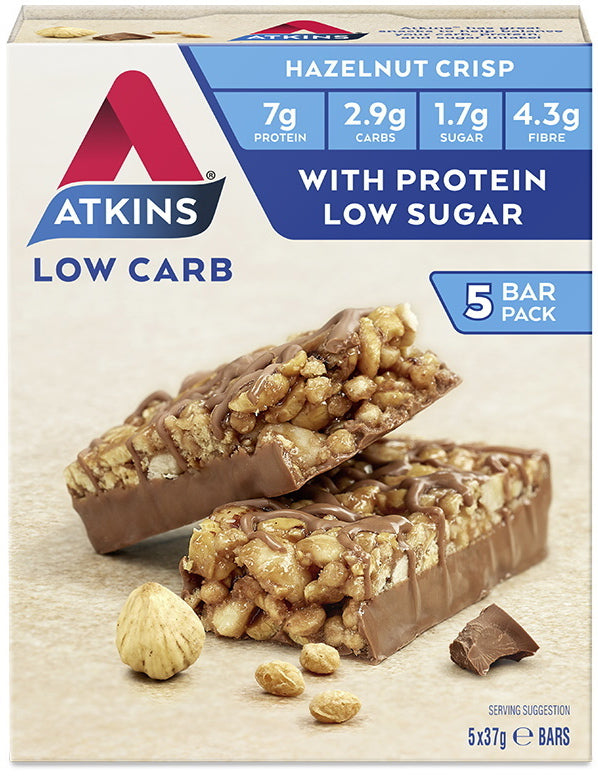 Atkins Day Break Bars - Chocolate Hazelnut Crisp (Box of 5)