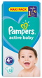 Pampers: Active Baby Nappies - Maxi Plus Size 4+ (53 pack)