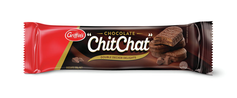 Griffins Chocolate Chit Chat Double Decker Delights 180g (21 Pack)
