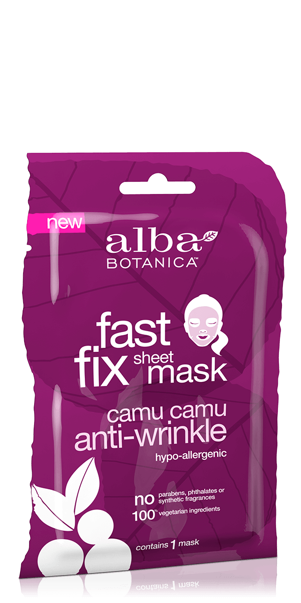 Alba Botanica: Fast Fix Camu Camu Anti-Wrinkle Sheet Mask (Single Mask)