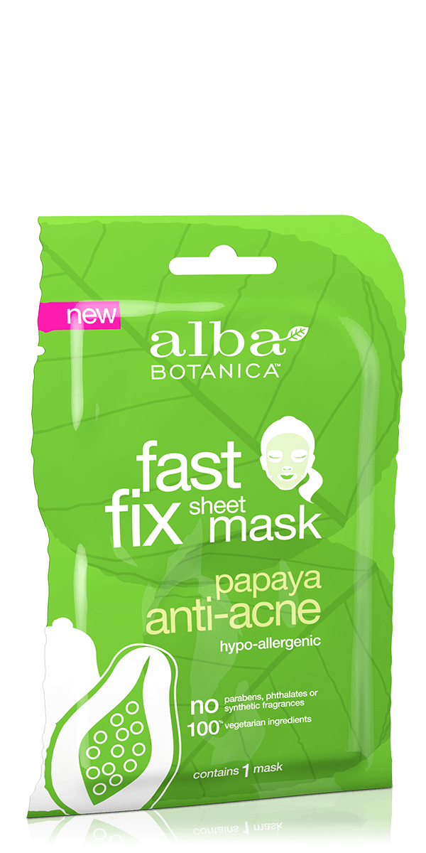 Alba Botanica: Fast Fix Papaya Anti-Acne Sheet Mask (Single Mask)