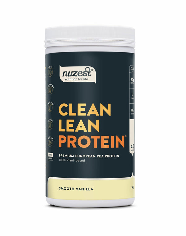 Nuzest Clean Lean Plant Based Protein Powder - Smooth Vanilla (1kg)