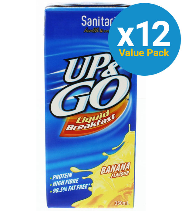 UP&GO Liquid Breakfast Banana 350ml (12 Pack)