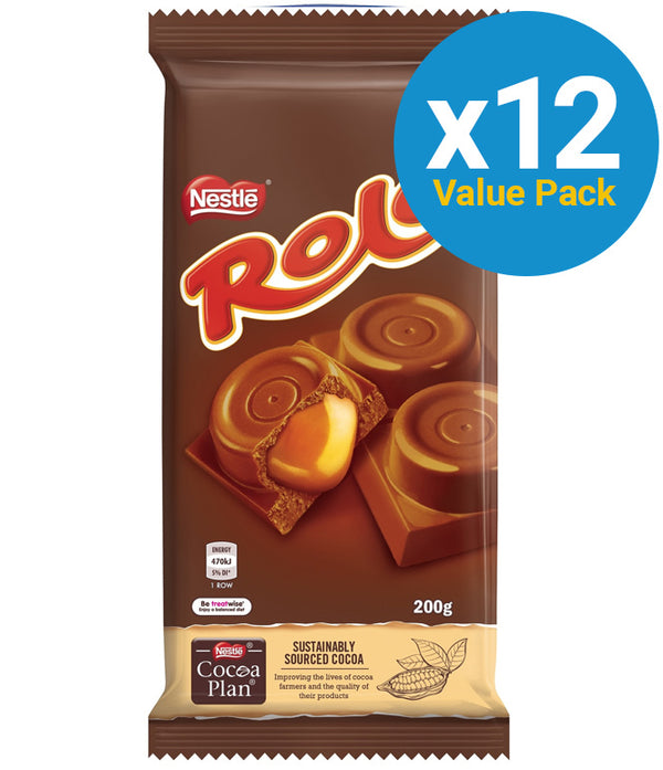 Rolo: Chocolate Block 200g (12 Pack)