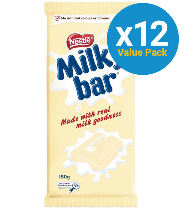 Milkybar - Chocolate Block 180g (12 Pack)