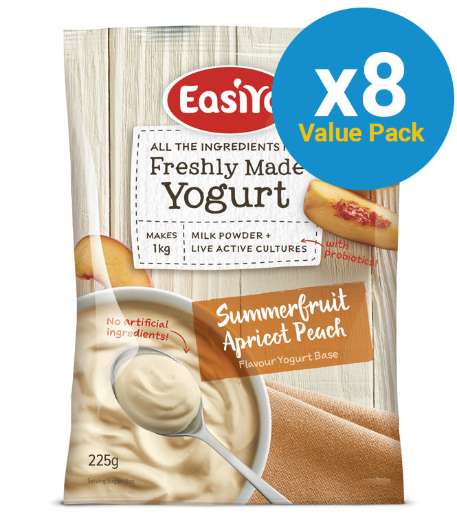 EasiYo: Everyday Range Yogurt Base - Summer Fruits 230g (8 Pack)