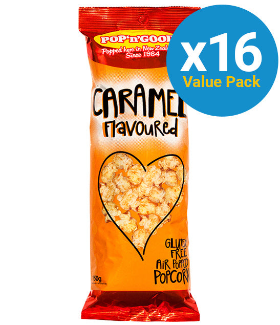 Pop'n'Good - Caramel 150g (16 Pack)