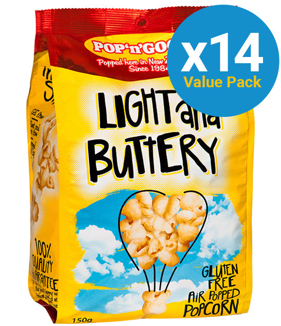 Pop'n'Good - Light & Buttery 150g (14 Pack)
