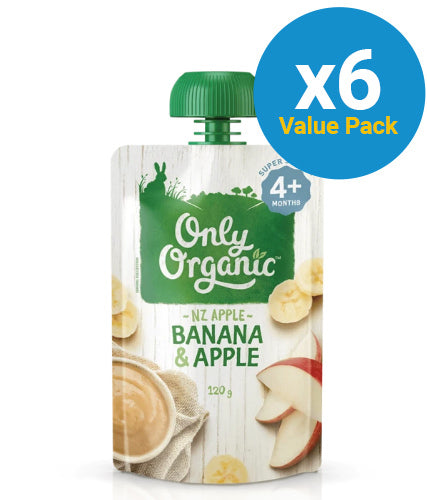 Only Organic: Stage 1 Apple Banana Smooth (6 x 120g)