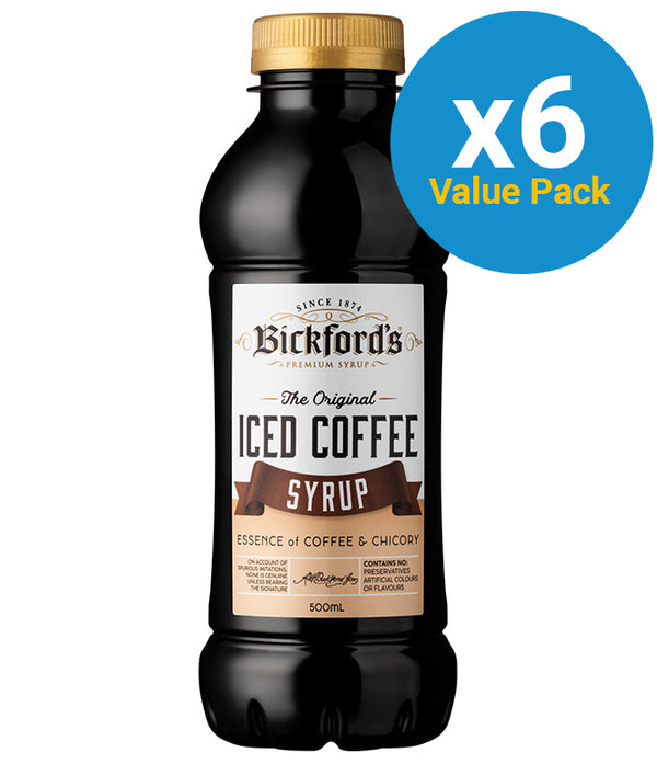 Bickfords: Iced Coffee Syrup 500ml (6 Pack)