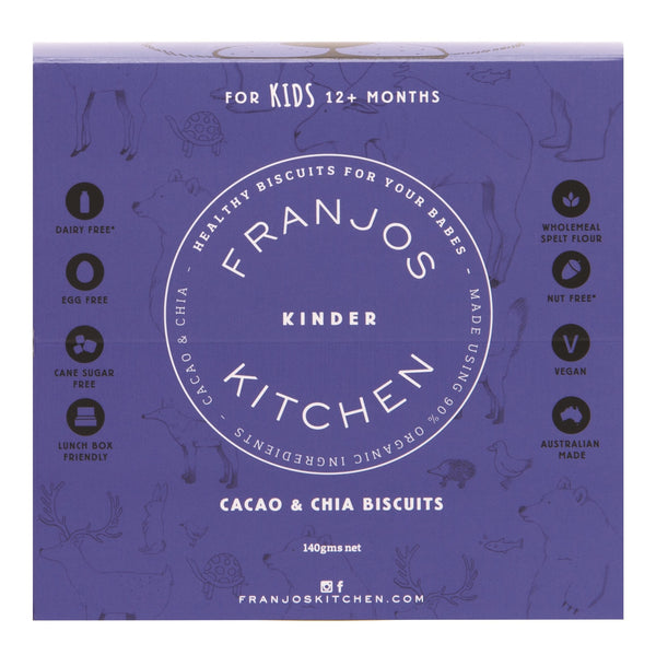 Franjos Kitchen: Kinder Biscuits – Cacao & Chia (140g)