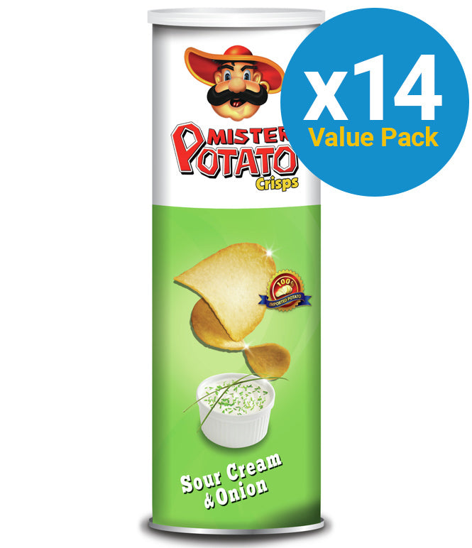 Mr Potato Chips Sour Cream 160g (14 Pack)
