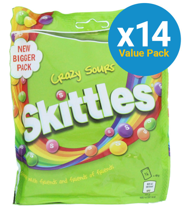 Skittles: Pouch Sours 196g (14 Pack)