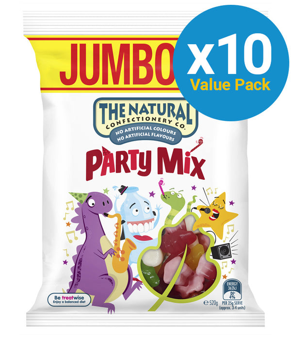 The Natural Confectionery Co: Party Mix 520g (10 Pack)