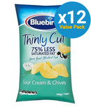 Bluebird Thinly Cut - Sour Cream & Chives 140g (12 Pack)