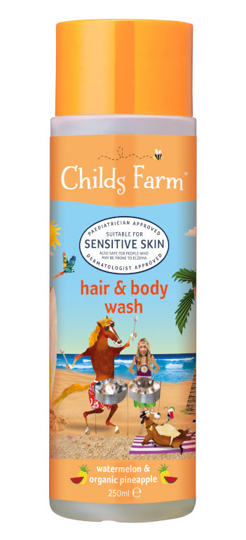Childs Farm: Hair and Body Wash - Watermelon & Organic Pineapple (250ml)