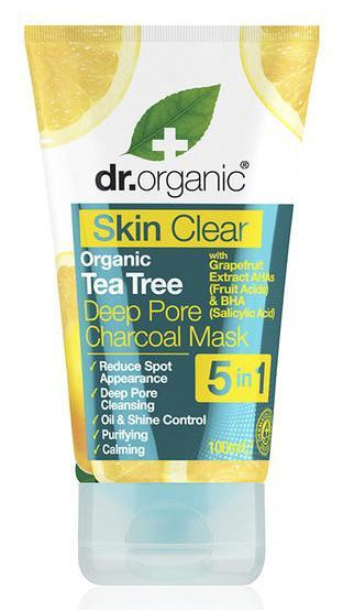 Dr. Organic - Skin Clear Organic Tea Tree Deep Pore Charcoal Mask (100ml)