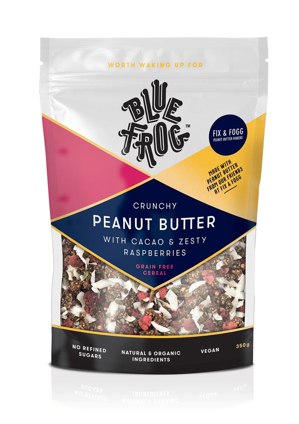 Blue Frog Zesty Peanut Butter with Raspberries 350g