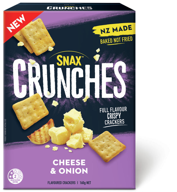 Snax Crunches Cheese & Onion 160g 12pk