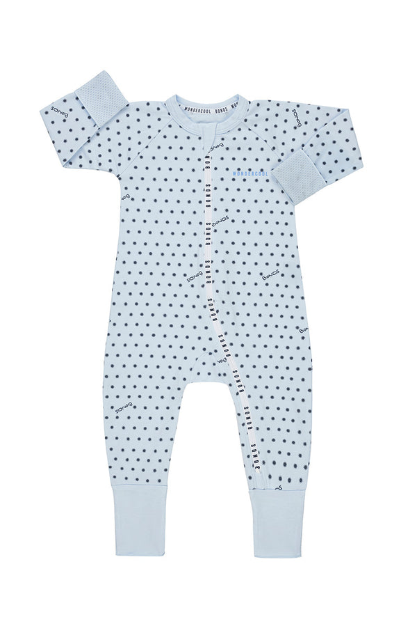 Bonds: Zip Wondercool Long Sleeve - Sunshine Baby Little Blue (12-18 Months)