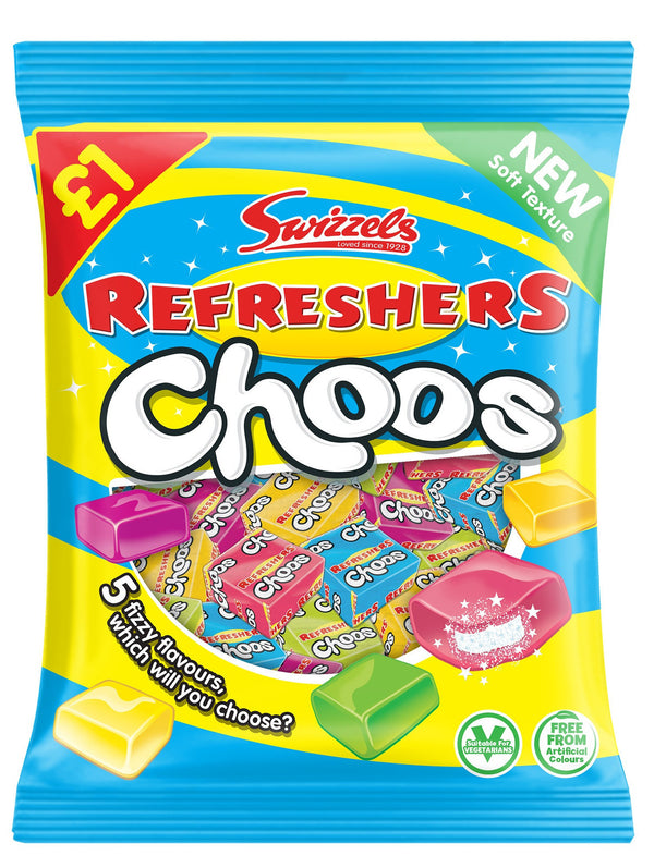 Swizzels Drumsticks Refresher Choos 150g 12pk