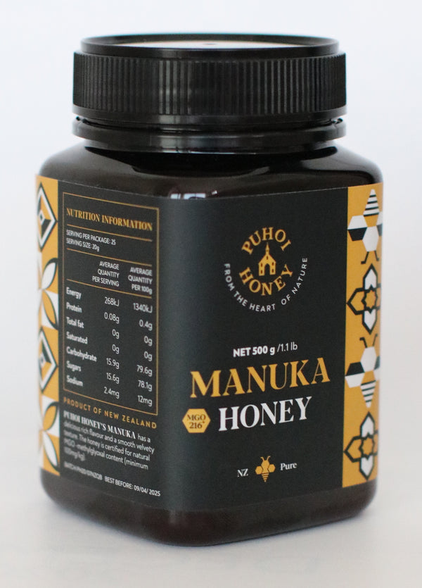 Puhoi Honey: Manuka Honey - (500g)