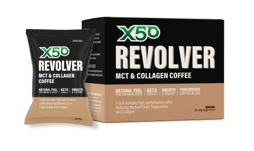 X50 Revolver MCT Coffee - Original (20 x 20g Single Sachets)
