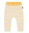 Bonds: Stretchy Leggings - White & Marigolden Stripe (3-6 Months)