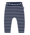 Bonds: Stretchy Leggings - Navy & White Stripe (3-6 Months)