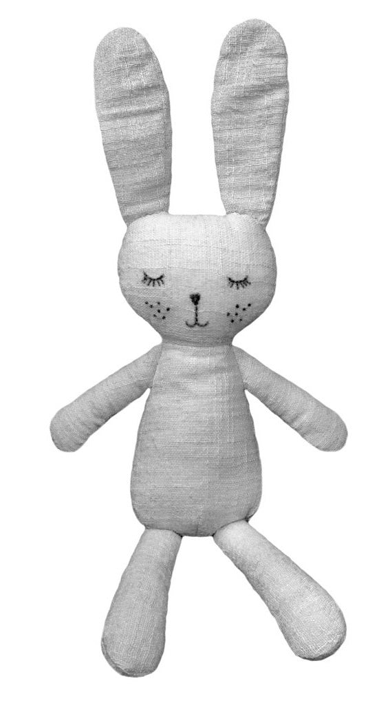 Lily & George: Grey the Bunny - Linen Plush