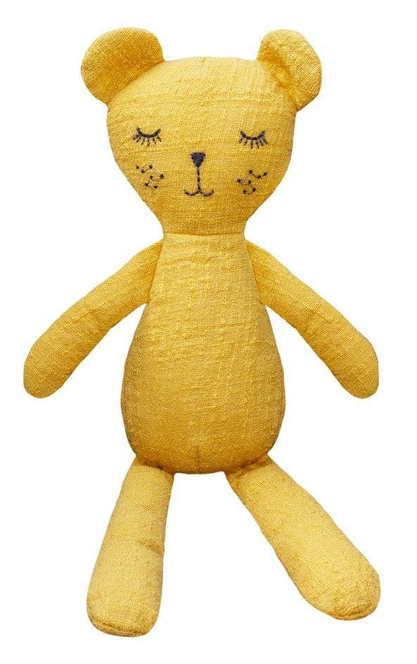 Lily & George: Mustard The Bear - Linen Plush