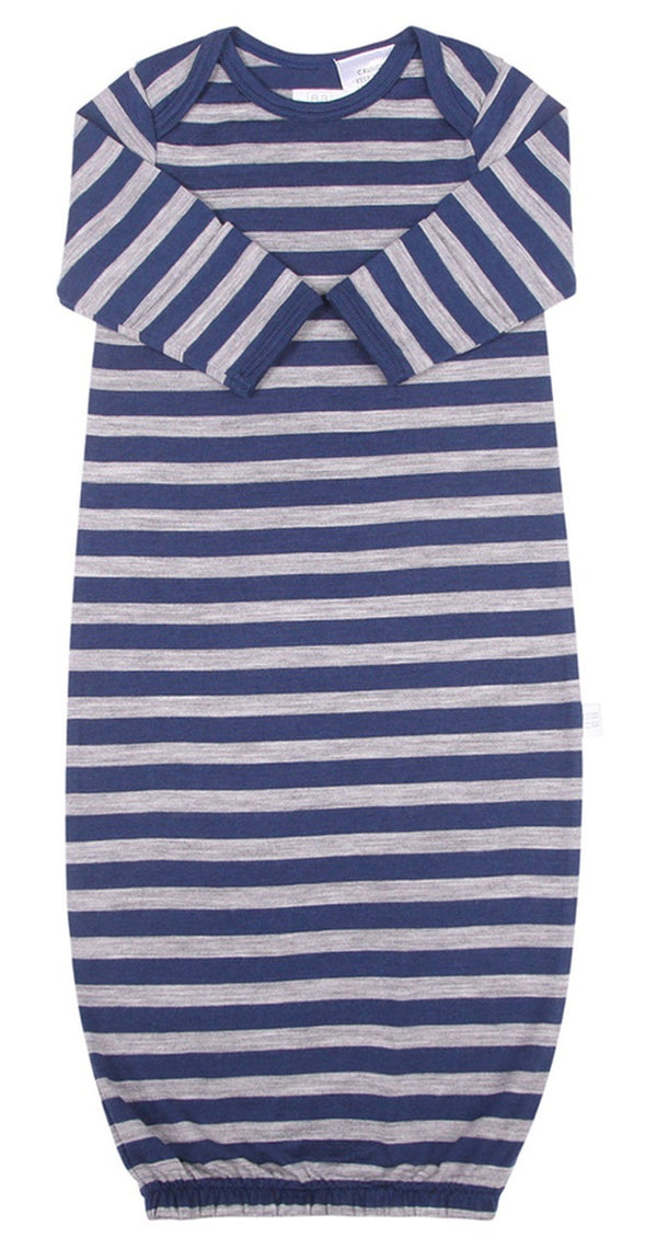 Babu: Merino Bundler Sleep Sack - Navy Stripe (0-3m)