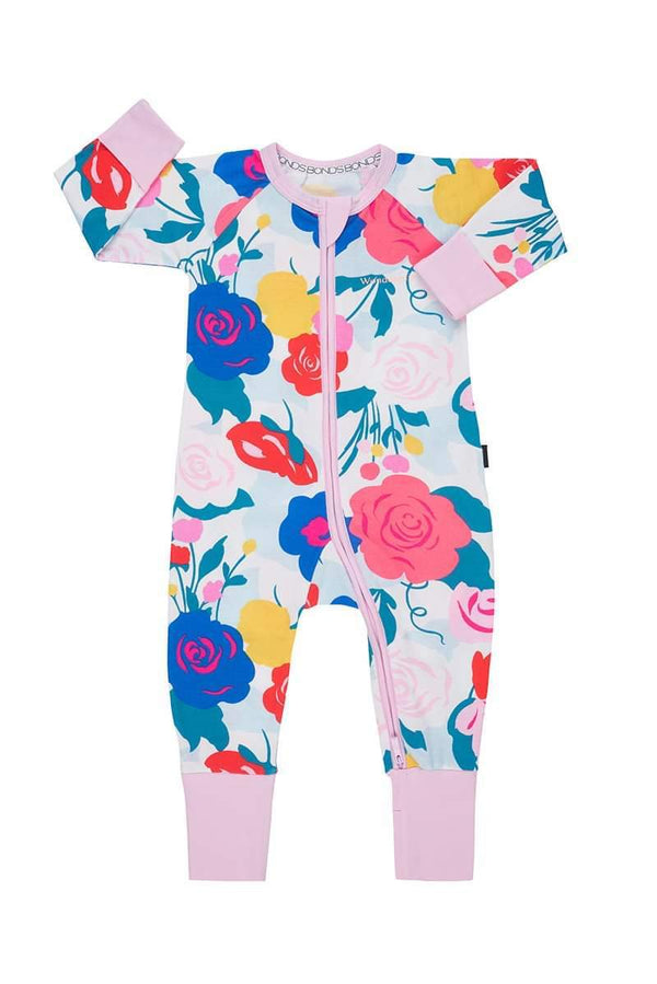 Bonds: Zip Wondersuit Long Sleeve - Still Life Floral (3-6 Months)