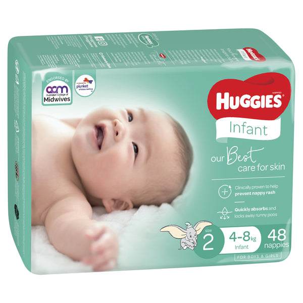 Huggies Ultimate Nappies Bulk - Size 2 Infant (48)