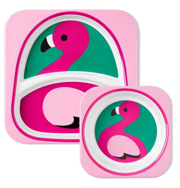 Skip Hop: Zoo Melamine Set - Flamingo
