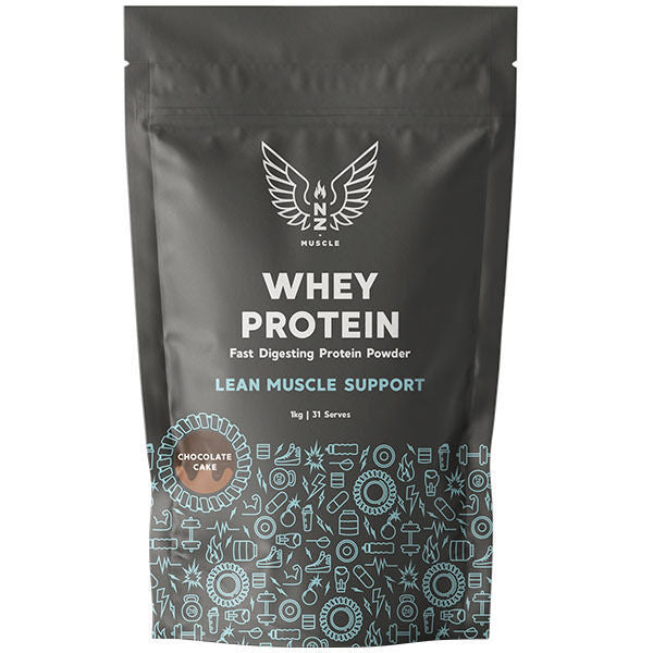 NZ Muscle Whey Protein - Chocolate Cake (1kg)