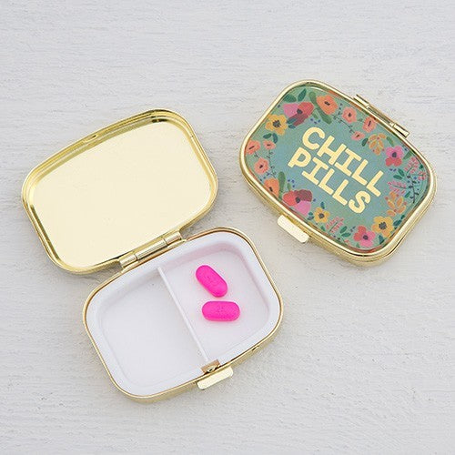 Natural Life: Pill Box - Chill Pills (Gold)