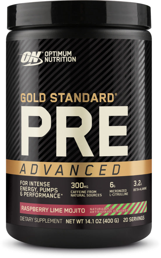 Optimum Nutrition Gold Standard Pre-Advanced - Raspberry Lime Mojito (400g)