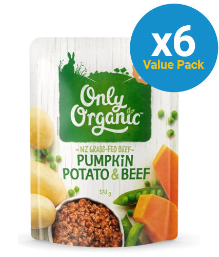 Only Organic: Pumpkin Potato & Beef - (6x 170g)