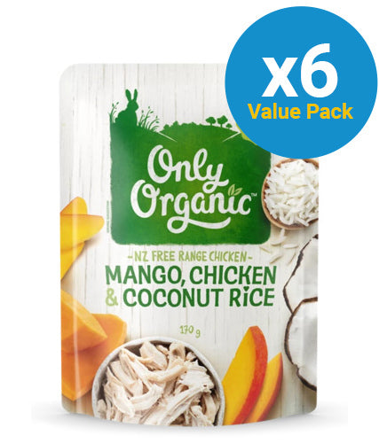 Only Organic: Mango Chicken & Cocount Rice - (6x 170g)