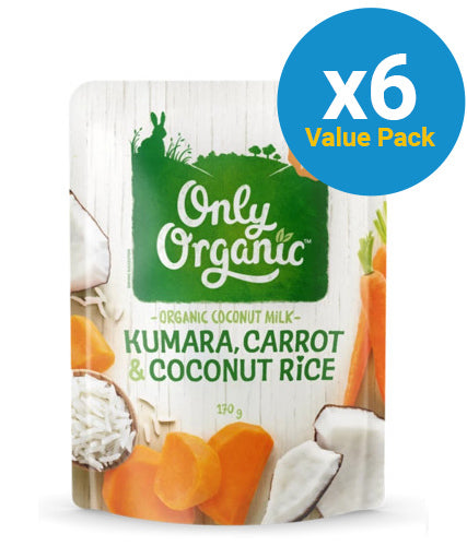 Only Organic: Kumara Carrot & Coconut Rice - (6x 170g)