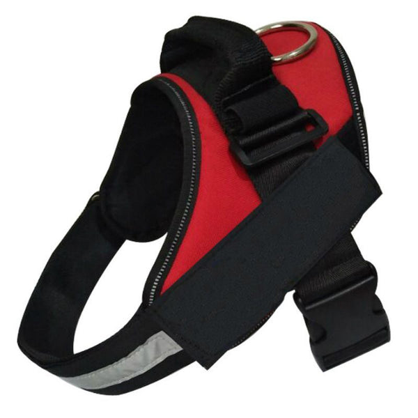 Adjustable Dog Harness - Red (Small)